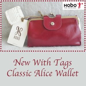 Hobo International Ruby Red Alice Kiss Lock Wallet